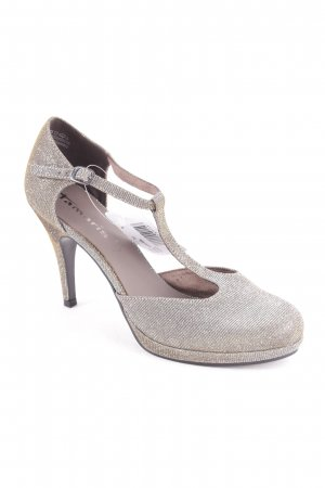 Tamaris Strapped pumps gold-colored-silver-colored color gradient