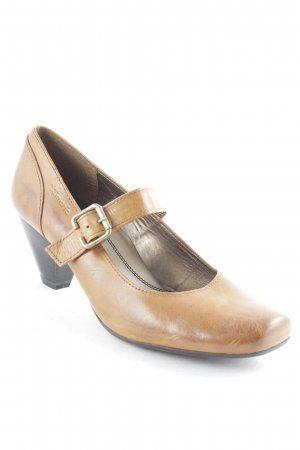 Tamaris Strapped pumps light brown casual look