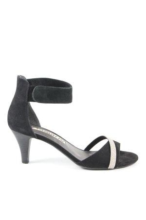 Tamaris Tacones de tiras negro-color plata elegante