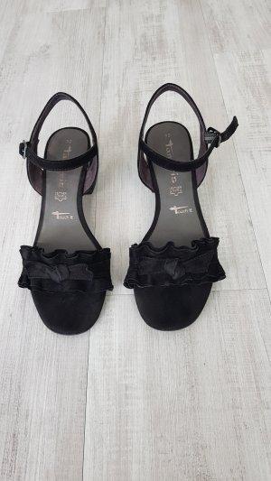 Tamaris Sandalo con cinturino e tacco alto nero