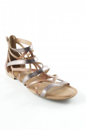 Tamaris Sandalias romanas marrón-color plata look Street-Style
