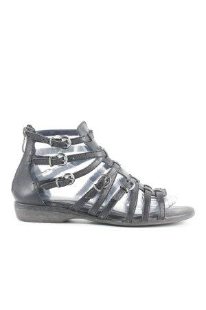 Tamaris Romeinse sandalen zwart vintage stijl