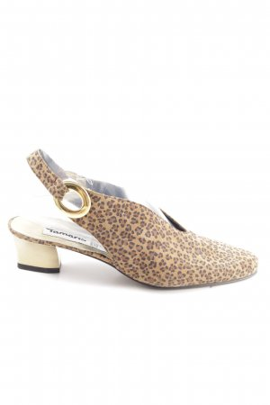 Tamaris Sabots natural white-brown leopard pattern business style