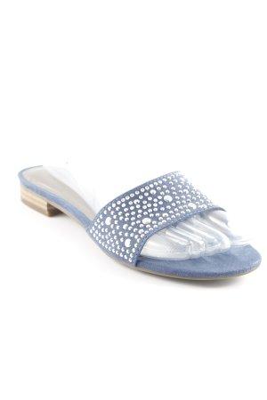 Tamaris Sabots steel blue beach look