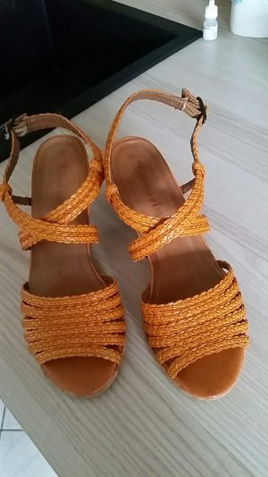 tamaris sandale gr. 38 orange ledersohle