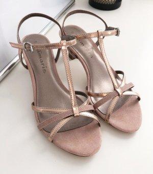 Tamaris Sandals pink-gold-colored