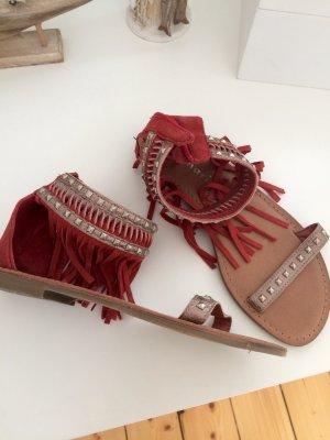 Tamaris Sandale  rot/Silber