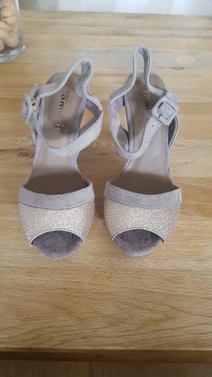 Tamaris Platform Sandals beige-light grey