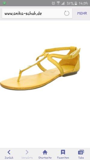 Tamaris Shoes gold orange imitation leather