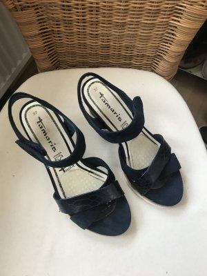 Tamaris Platform High-Heeled Sandal dark blue