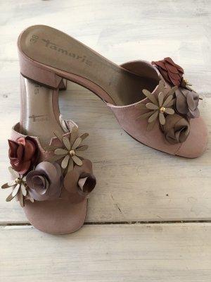 Tamaris  Sandalen mit Blüten neu Rosa