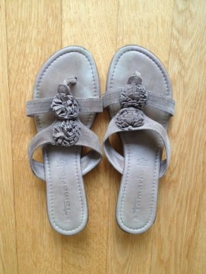 Tamaris Sandals grey brown leather