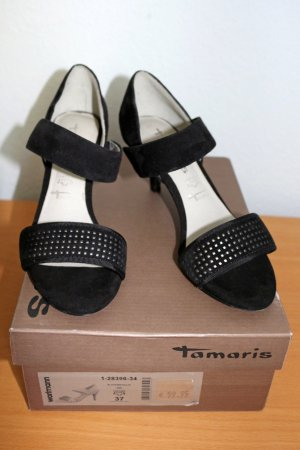 Tamaris Strapped High-Heeled Sandals black