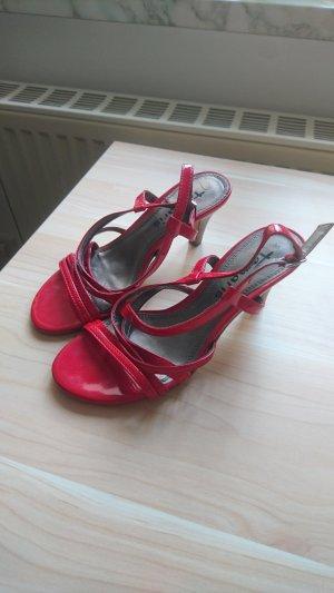 Tamaris High-Heeled Sandals red