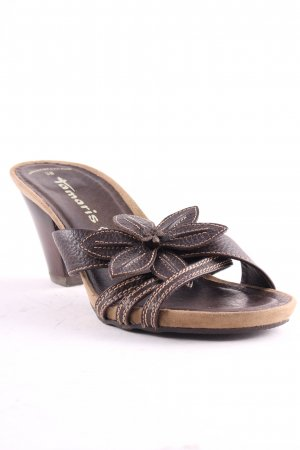 Tamaris High-Heeled Sandals dark brown casual look