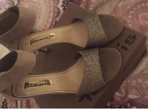 Tamaris High-Heeled Sandals light brown-brown