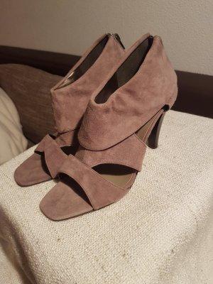 Tamaris High Heel Sandal beige-camel suede