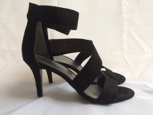 Tamaris Strapped High-Heeled Sandals black suede