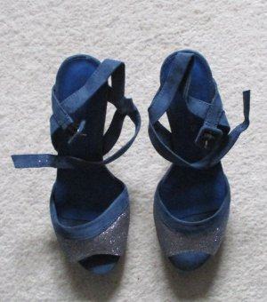 Tamaris Sandaletten mit Glitzereffekt Gr. 40 NEU