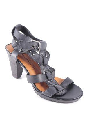 Tamaris Sandaletten schwarz klassischer Stil