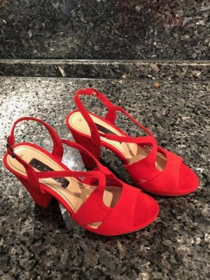 Tamaris Shoes neon red-red leather