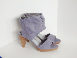 *Tamaris* Schaft Sandalette Velourleder Blauviolett Gr.39 -NEU-