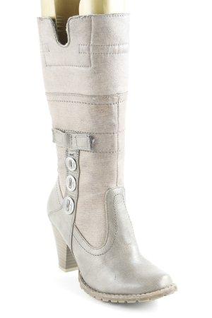 Tamaris Jackboots beige-grey brown country style