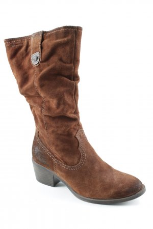 Tamaris Schaftstiefel cognac Street-Fashion-Look