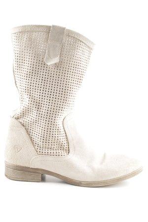 Tamaris Jackboots cream-oatmeal casual look