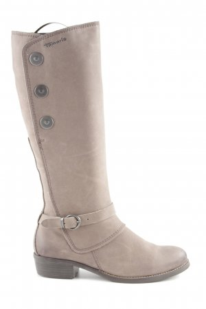 Tamaris Jackboots grey brown-dark brown casual look