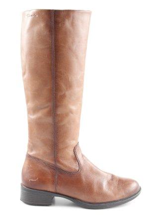 521e74d61 Tamaris Botas estilo militar marrón claro look casual