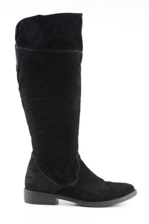 Tamaris Stivale militare nero stile casual