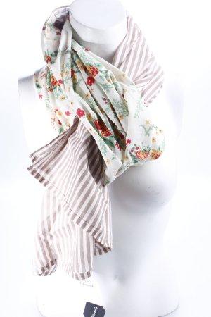 Tamaris Schal mit Blumen und Streifenmuster