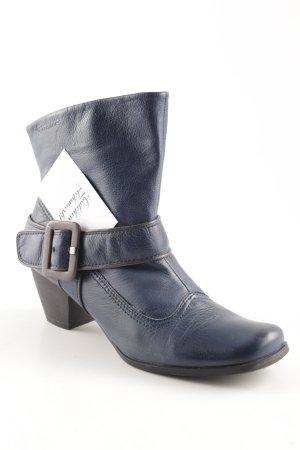 Tamaris Schlüpf-Stiefeletten blau-schwarz Casual-Look