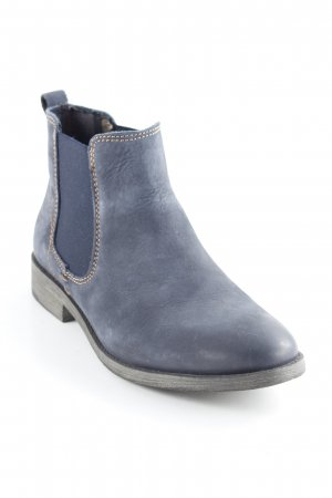 Tamaris Bottines à enfiler gris ardoise-bleu foncé style simple