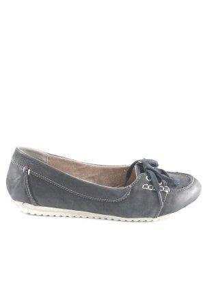 Tamaris Slip on bleu foncé gris style décontracté