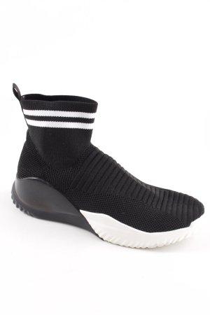 Tamaris Schlüpfsneaker schwarz-weiß Casual-Look
