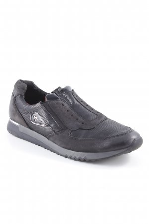 Tamaris Sneaker slip-on nero motivo animale stampa rettile