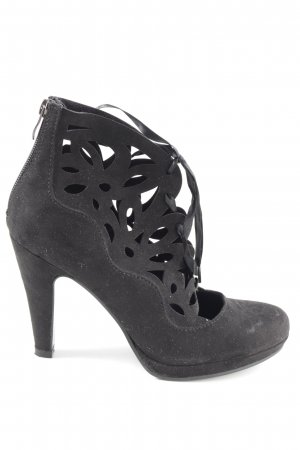 Tamaris Tacones con cordones negro elegante