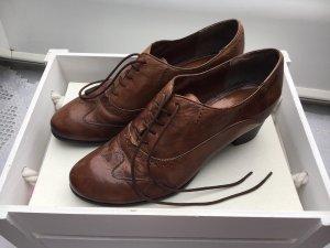 Tamaris Lace-up Pumps brown-cognac-coloured