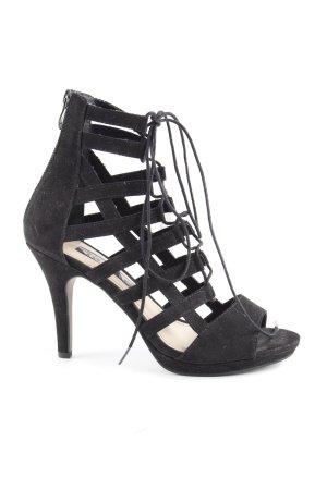Tamaris Escarpins à lacets noir style extravagant