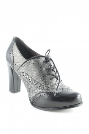 Tamaris Lace-up Pumps black-grey business style