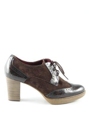 Tamaris Lace-up Pumps black brown business style