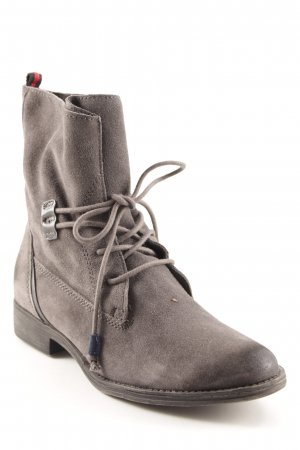 Tamaris Bottines à lacets gris anthracite style décontracté