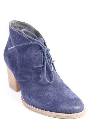 Tamaris Schnür-Stiefeletten blau-beige klassischer Stil