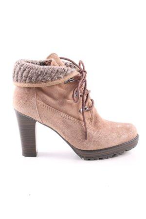 Tamaris Bottines à lacets brun style décontracté