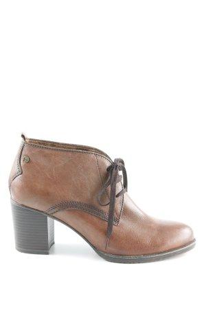 Tamaris Lace-up Booties brown-dark brown classic style
