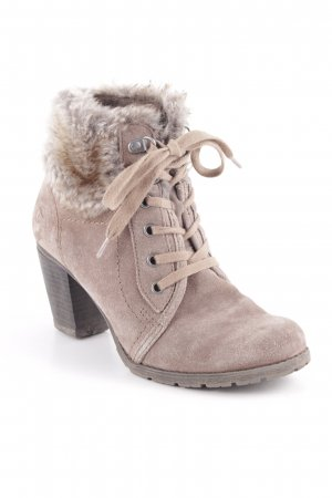 Tamaris Lace-up Booties grey brown classic style