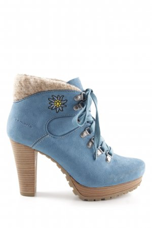 Tamaris Aanrijglaarsjes neon blauw country stijl