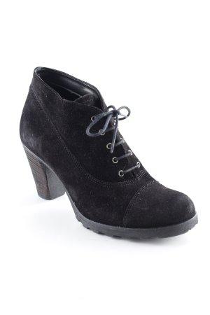 Tamaris Schnür-Stiefeletten schwarz schlichter Stil